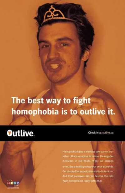 OUTLIVE HOMOPHOBIA. Click here for details